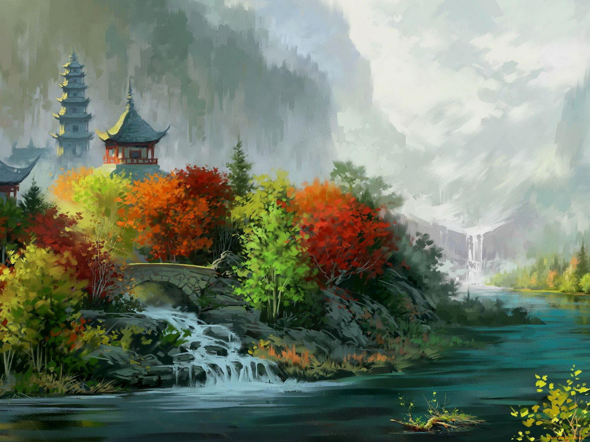 живописные рисунки картинки
